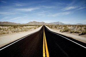 Mojave desert freeway: test drive my360plus today
